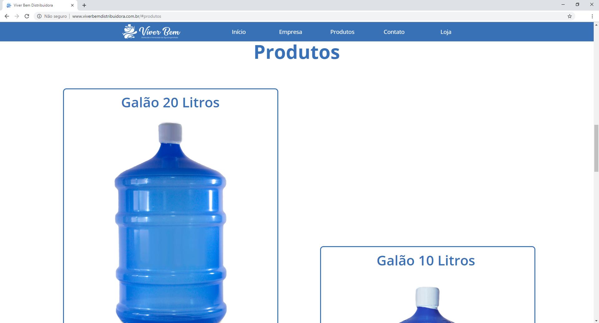 site produtos